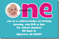 1st Birthday Party Invitation Template Custom 1st Birthday Party Invitations Archives