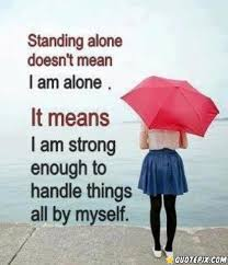 when i am alone inspirational quote