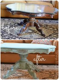 annie sloan chalk paint coffee table makeover
