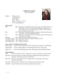 Graduate School Resume Sample Best Grad School Resume Example From Academic Resume Example Yeniscale