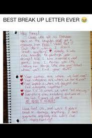 Break Up Letter Goal Funny Pinterest Goal Memes And Random