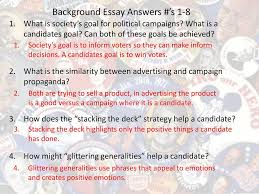 campaign propaganda which strategies would you use ppt video background essay answers s 1 8