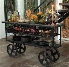 Rustic Kitchen Cart Island Rustic Kitchen Trolley Cart Metal And Wood Kitchen Trolley Cart