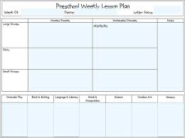 Preschool Lesson Weekly Plan Planning Template Teacher – Willconway.co