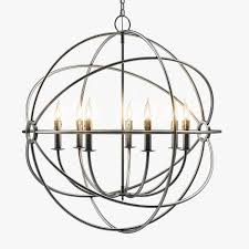 foucaults iron orb chandelier rustic iron medium 3d model max obj fbx mtl unitypackage 1