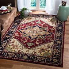 safavieh heritage collection hg625a handmade red wool area rug 8 feet 3 inches