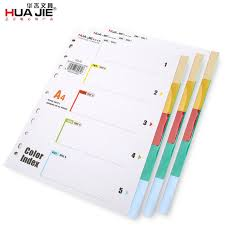 Page Binder Us 2 66 31 Off Huajie 5 Pages Package Category Page 11 Holes A4 Comix Binder Inner Page Dividers Set For Spiral Notebook Loose Leaf Index Paper In