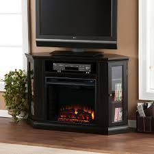 modern corner electric fireplace entertainment center