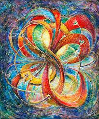 multidimensional eternal bliss spiritual fine art painting for love good luck light