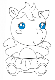 Cute Baby Pegasus Coloring Page Free Printable Coloring Pages