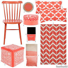 Coral Colored Decorative Accessories