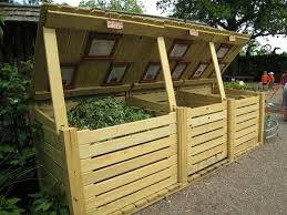 image of how to build a wooden box compost bin