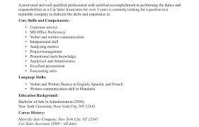 Car Salesman Resume Inspiration 6620 Carman Job Description Resume Sample Best Of It Car Sales