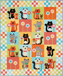 10 Happy Quilts for Kids - The Quilting Company & HappyQuilts Kitty 10 Happy Quilts for Kids Adamdwight.com