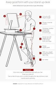 captivating ergonomic standing desk setup 25 best ideas about stand up desk on computer stand