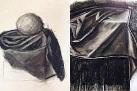 Drapery Drawing Drapery Study Drawings In Charcoal By Students Enrolled In