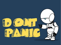 Image uploaded by n a t h a l i e. Don T Panic Wallpaper By Roguexunited On Deviantart