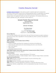 Resume Format For Mba Marketing Fresher Resume Template Easy