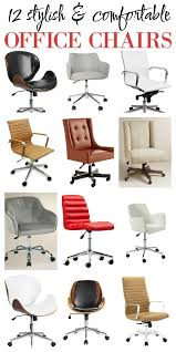 comfortable home office chair. really great list of 12 stylish and comfortable office chairs - most are very affordable as home chair e