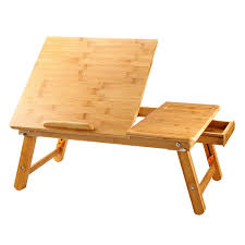 large office table. Large Size Laptop Desk NNEWVANTE Bamboo Bed Tray Adjustable Foldable Serving W\u0027 Tilting Drawer Office Table N