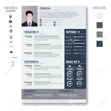 Vector Creative Minimalist Cv Resume Template With Photo Frame