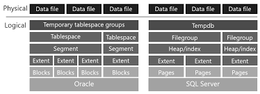 Comparison Logical Architecture Between Oracle And Sql
