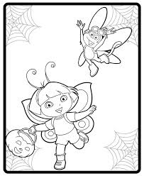 halloween costumes coloring pages image dora and boot halloween costumes coloring page jpg dora