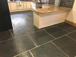 Slate Tile Floor Designs Large Format Slate Kitchen Floor Tiles Renovated In