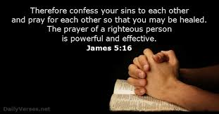 Image result for picture pray for one another Bible