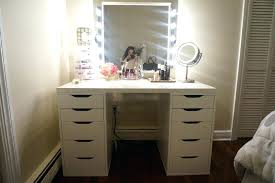 wall mirror with drawers corner bedroom makeup vanity table many plus lighted