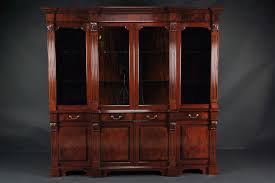 Chippendale China Cabinet Mahogany China Cabinet High End Antique Reproduction Breakfront