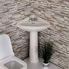 corner pedestal sink. Delighful Pedestal CORNER PEDESTAL SINK WHITE RE1717W  NEW Intended Corner Pedestal Sink E