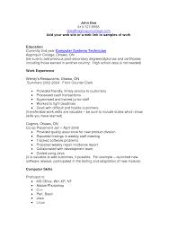 Sample Resume Computer Skills Computer Skills List For Resume Free