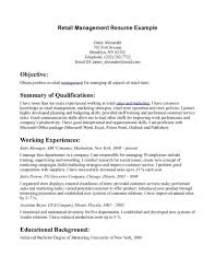 Resume Objective Examples For Retail Listmachinepro Com