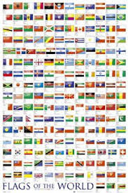 World Population Wall Chart Flags Of The World Wall Chart Poster Gb Eye Ltd Flags Of