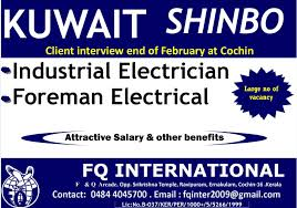 Industrial Electrician Salary Kuwait Industrial Electrician Foreman Electrical