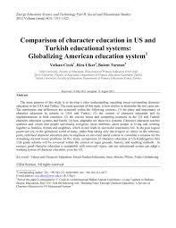 essay on character building is the essence of education comparison of character education in us and turkish educational