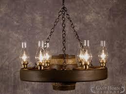 small wagon wheel chandelier