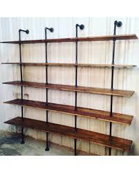 industrial furniture for sale. Industrial Furniture Modern Shelf Unit Pipe Shelving With Wooden Shelves Bookshelves Envy For Sale