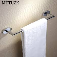 MTTUZK Bathroom towel bar solid all copper towel rack single rod