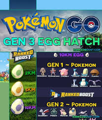 Pokemon Go Generation 3 Egg Hatch List All Gen 3 Egg Pokemon