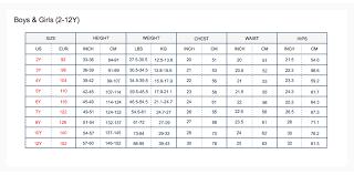 Size Charts Toobydoo