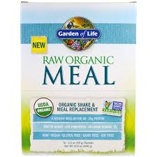 garden of life raw meal organic shake meal replacement 10 packets