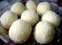 coconut ladoo with condensed milk coconut ladoo
