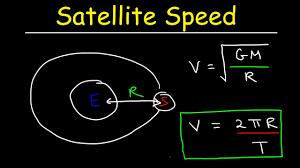 sd of a satellite in circular orbit orbital velocity period centripetal force physics problem