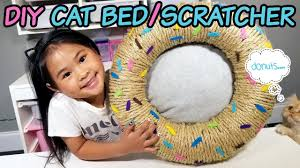 DIY <b>Donut Cat Bed</b> and Scratcher | No-Sew <b>Cat Bed</b> Tutorial | DIY ...