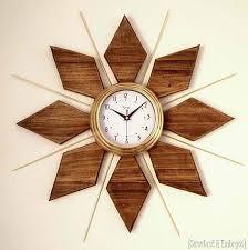 diy starburst wall clock diy home decorating ideas for mid century modern