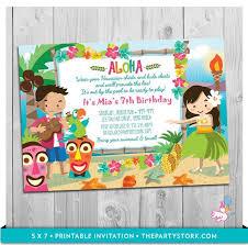 Hawaiian Pool Party Invitations Hawaiian Party Invites Under Fontanacountryinn Com