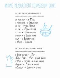 Liquid Measurement Conversion Chart Baking Measurement Conversion Chart Printable The Pretty Bee