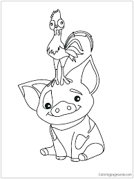 Moana Coloring Pages Printable Baby Interactive Christmas Coloring